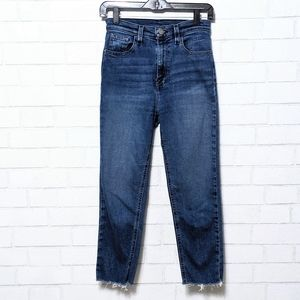 BDG Girlfriend High Waist Raw Hem Jeans 25